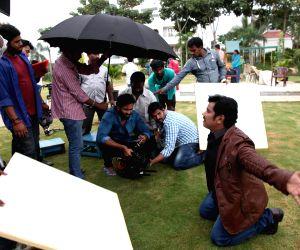 Working stills of Telugu movie Singam 123