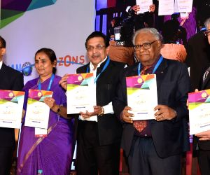 IAS officer K Ratna Prabha, Karnataka Planning, Statistics, Science and Technology Minister M R Seetharam, Jawaharlal Nehru Centre for Advanced Scientific Research president C.N.R. Rao and ...