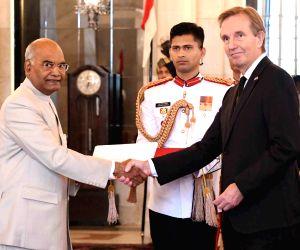 Iceland Ambassador presents his credentials to President Kovind