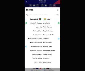 ICC app includes Shankar, Kuldeep in India's XI