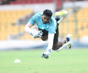 India A practice session