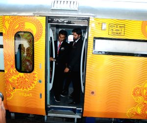 Tejas train at CST railway station