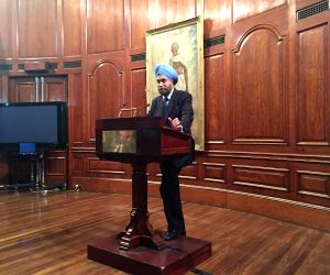 Navtej Sarna during an interaction with Indian academicians and students