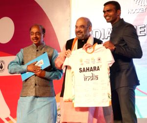 India's Rio bound hockey team captains during a programme