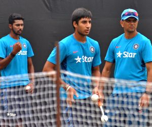 Rahul Dravid during India Under-19 team practice session