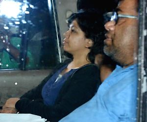 Indian aid worker Judith D'Souza at Kolkata Airport