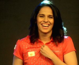 Saina Nehwal becomes quiz master at an inter corporate quiz