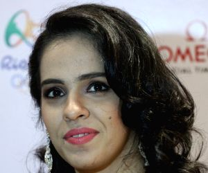 Saina Nehwal during a promotional programme