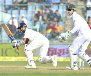 : (041215) New Delhi:  India vs South Africa : 4th Test - Day 2