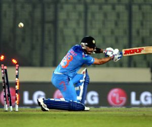 Mirpur (Bangladesh): World T20 warm-up match - India vs Sri Lanka