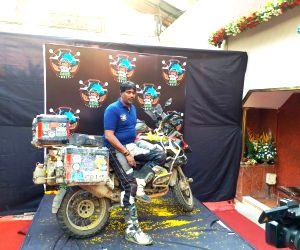 Mumbai biker, partner complete 27-day long 'world trip'
