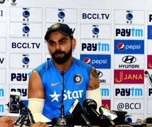 Virat Kohli addresses a press conference