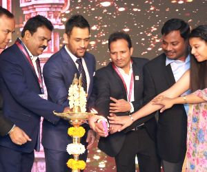 MS Dhoni at the launch of a residential project
