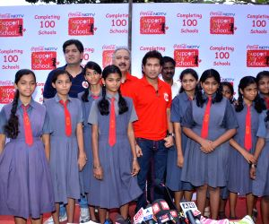 NDTV Coca Cola Support My School 100th school launch