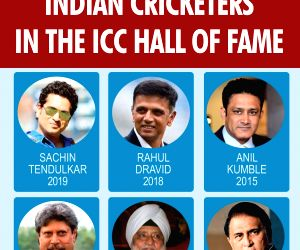 Indian cricketers in the ICC Hall of Fame.