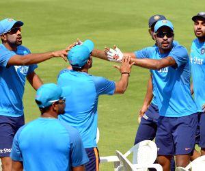 India vs Bangladesh - Practice session - Ravichandran Ashwin & Hardik Pandya