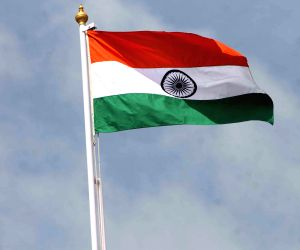 Indian flag flutters at Golkonda Fort