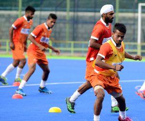Indian men's hockey team - practice session
