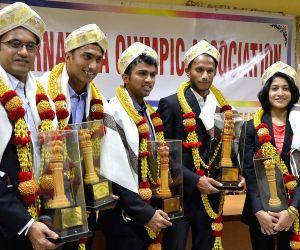 Karnataka Olympic Association felicitates CWG champions