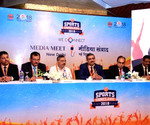 Indian Oil Corporation Director HR Ranjan Kumar Mohapatra addresses a press conference regarding 'Sports Conclave 2018' in New Delhi, on June 7, 2018.
