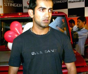 "Indian Opener Gautam Gambhir at the launch of ""Bolero Stinger"" in New Delhi on Monday 13 April 2009."