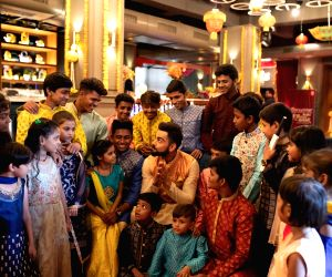 Virat Kohli celebrates diwali with children