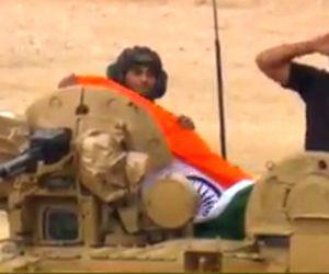 International Army Games - Tank Biathlon 2017 - Indian T-90 tanks