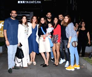 Sania Mirza, Aashish Chaudhary, Samita Bangargi Chaudhary, Yuvraj Singh, Zaheer Khan seen at Bandra