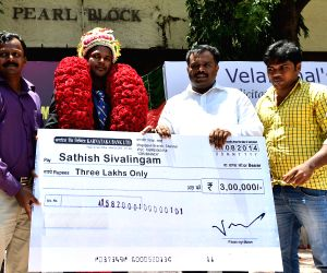 Sathish Sivalingam felicitated