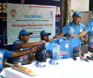 Indian Wheelchair Cricket team's press conference