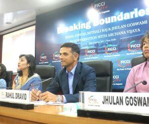 Breaking Boundaries' programme - Rahul Dravid, Mithali Raj, Jhulan Goswami