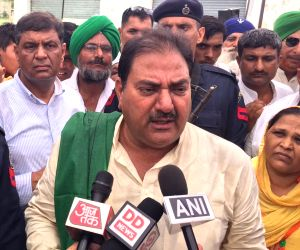 Abhay Singh Chautala talks to press