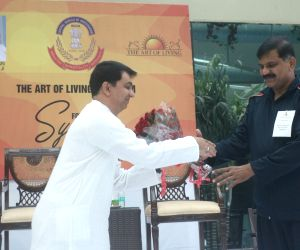 """Interim CBI Chief M. Nageswara Rao during the three-day workshop - """"synergy programme"""" - organised by the Art Of Living, at CBI headquarter in New Delhi on Nov 10, 2018."""