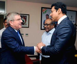 Thomas Bach meets Rajyavardhan Singh Rathore