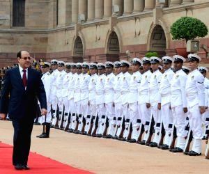 Iraqi PM accorded ceremonial reception at Rashtrapati Bhawan