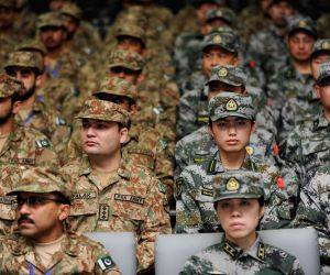 Chinese and Pakistani military personnel take part in the joint Peace Angel - 2014 exercise