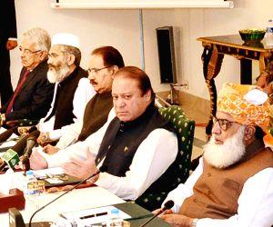 Pakistani Prime Minister Nawaz Sharif address National Security Conference