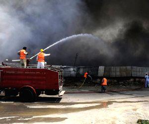PAKISTAN-ISLAMABAD-MARKET-FIRE