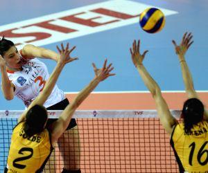 TURKEY ISTANBUL VOLLEYBALL TURKISH WOMEN LEAGUE PLAYOFF VAKIFBANK VS ECZACIBASI