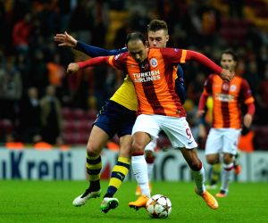 Istanbul (Turkey): UEFA Champions League group D football match between Galatasaray and Arsenal