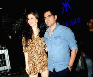 Giorgia Andriani's birthday celebrations - Arbaaz Khan