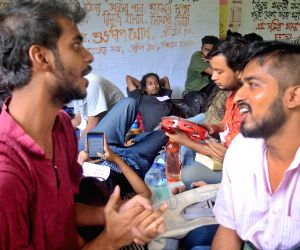 Jadavpur University students' sit-in demonstration