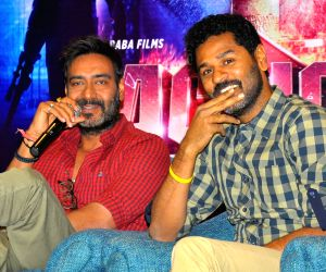 Ajay Devgan and Prabhu Deva promote 'Action Jackson'