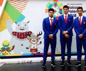 INDONESIA JAKARTA ASIAN GAMES CHINESE DELEGATION FLAG RAISING CEREMONY