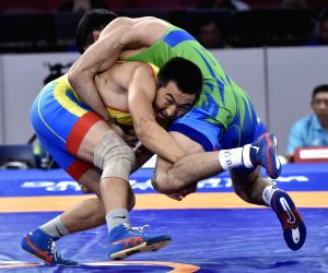 INDONESIA-JAKARTA-ASIAN GAMES-WRESTLING-MEN'S FREESTYLE 74 KG