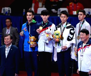 INDONESIA-JAKARTA-ASIAN GAMES-WRESTLING-MEN'S TAEKWONDO 58 KG