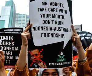 INDONESIA JAKARTA AUSTRALIAN PM PROTEST
