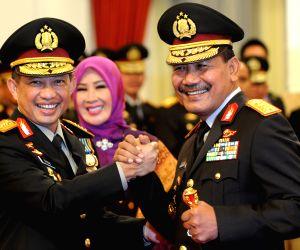 INDONESIA JAKARTA NEW POLICE CHIEF INAUGURATION