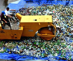 INDONESIA JAKARTA ALCOHOL AND NARCOTICS DESTROY