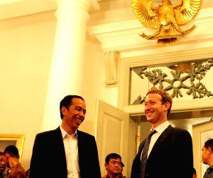 Mark Zuckerberg during a press confrence